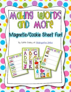 FREE!  Making Words with Magnetic Letters