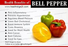 Health benefits of Bell Pepper