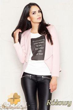 Niezapinany żakiet damski marki FIGL.  #cudmoda #moda #ubrania #odzież #clothes #women #fashion