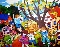 It's A Beautiful Day by Canadian UNICEF artist Terry Ananny