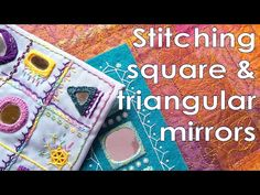 Shisha Stitch Mirror Work - EASY hand embroidery video tutorial - square mirrors and triangles - YouTube Basic Embroidery Stitches, Hand Embroidery Videos, Embroidery Flowers Pattern, Embroidery Techniques, Embroidery Designs, Triangle Mirror, Square Mirrors, Mirror Work Blouse Design, Latest Mehndi Designs