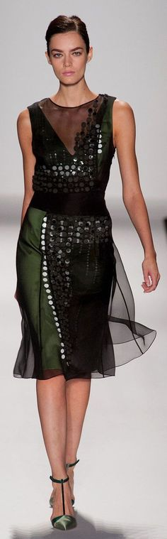 """Carolina Herrera Spring 2014 """"And the LORD said to Moses, """"Go to the people and consecrate them today and tomorrow. Have them wash their clothes."""" Exodus 19:10"""