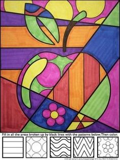 Apple Pop Art Interactive Coloring Sheet by Art with Jenny K Apple Coloring Pages, Coloring Sheets, Middle School Art, Art School, Pop Art Pour Les Enfants, Pop Art For Kids, Classe D'art, Apple Pop, Ecole Art