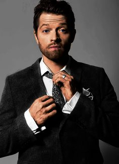 Misha Collins. First time he can actually tie the tie. Maybe Dean was there..