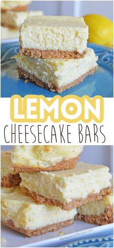 Bar Recipes, Sweet Recipes, Dessert Recipes, Cooking Recipes, Lemon Cheesecake Bars, Cheesecake Recipes, Yummy Snacks, Yummy Food, Fruit Scones