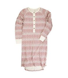 Womens Fair Isle Gown - Burts Bees Baby