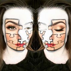 Puzzle Makeup Look