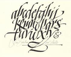 calligraphy alphabet - Pesquisa Google