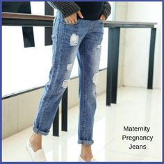 2f5e35765 Fashion Maternity Jeans Clothing Pants For Pregnant Women Nursing Trousers   BAHEMAMI  Denim