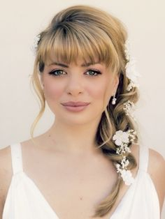 Wedding Hairstyles With Bangs Models