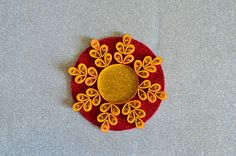 Quilled Candle Holder  Quilled Diya