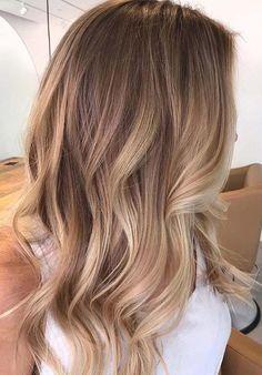 Soft Wavy Brunette To Blonde Ombre Hair For Medium Length Hair