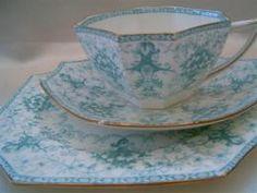Wileman (Shelley) tea trio cup saucer plate Antique shape 1906