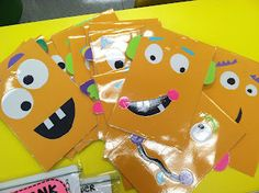 Math Monsters - use in Take Home Folder to house flashcards (super cute!)