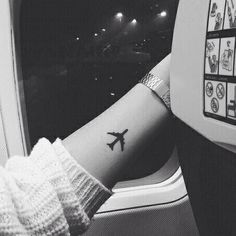 """566 Likes, 52 Comments - Small tattoos (@smalltattoo_) on Instagram: """"✈️ #plaintattoo #traveltattoo #smalltattoo #tattoo #tattooaccount #inkt #inked"""""""