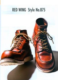 Those old RedWing boots. Red Wing Heritage Boots, Red Wing Boots, Denim Boots, Jeans And Boots, Leather Men, Leather Boots, Red Wing Moc Toe, Fashion Boots, Mens Fashion