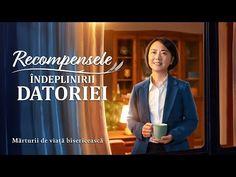 """Video de mărturie creștină 2020 """"Recompensele îndeplinirii datoriei"""" Adevărata experiență a unui creștinYang Mingzhen avea o afacere și propria fabrică, iar prietenii și familia o vedeau ca pe o super-femeie. Ea este înflăcărată în căutarea ei și își face datoria în mod activ în biserică, după ce-și câștigă credința, crezând că are o anume realitate a supunerii față de Dumnezeu.  #Video_de_mărturie_creștină #Mărturia_unui_creștin  #marturie #Dumnezeu #povesti_adevarate #creștinism Videos, Music, Youtube, Movie, Musica, Musik, Muziek, Music Activities, Youtubers"""