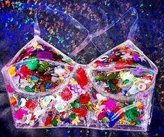 90s club kid Clear PVC glitter confetti by TheUnicornEmporium