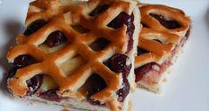 Rácsos meggyes pite - Süss Velem Receptek Hungarian Recipes, Hungarian Food, Waffles, Pie, Breakfast, Quiche, Poppy, Candy, Torte