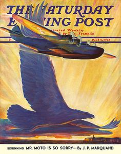 Saturday Evening Post -  Boeing 314 Clipper, July 2, 1938