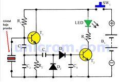 El probador de cristales con dos transistores es muy útil porque en muchos proyectos electrónicos se utilizan cristales para la generación de frecuencia