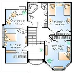 Discover the plan 2421 - from the Drummond House Plans house collection. Total living area of 1799 sqft. House Plans Mansion, Garage House Plans, Luxury House Plans, Dream House Plans, House Floor Design, Home Design Floor Plans, Tiny House Design, Little House Plans, Family House Plans