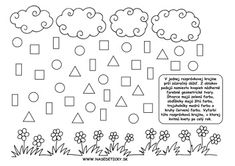 Dážď. Geometrické tvary. Worksheets For Kids, Printable Worksheets, Word Search, Shapes, Education, Ms, Mathematics, Geometry, Kids Worksheets