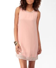 Pearlescent Embellished Shift Dress | $34.80. Ship it by www.canubring.com