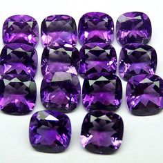 Super Premium Purple-Blue Shade of African Amethyst faceted 8 x 8 mm Cushion Cut gemstones... Up for sale on our Store Front :  http://ift.tt/1Mpgua5  More Custom Cut Sizes and Shapes available  #amethyst #africanamethyst #calibratedgem #calibratedgemstone #amethystcushion #customcutgem #8mm #mineral #naturalgem #gemstone #gem #likeforlike #picoftheday #20likes #zambia #customjewelry #finejewelry #designersdream #gemology #jewel #necklace #jewelrysupply #ring #instaluxe #instagood #jewelry…