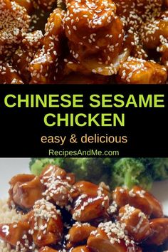 Looking for an Asian inspired meal that's perfect for a weeknight as well as the weekend? This Chinese sesame chicken recipe is easy to make, and very versatile. Way better than takeout, especially when you couple it with streamed or roasted veggie Crockpot Recipes, Cooking Recipes, Healthy Recipes, Rice Recipes, Recipes Dinner, Potato Recipes, Casserole Recipes, Pasta Recipes, Soup Recipes