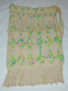 I had this same purse when I was young.  vintage plastic BEADED DOT PURSE 13 X 9 with by UncleJohnsBand, $20.00