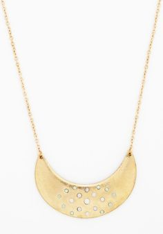 Skip to My Lunar Necklace. Take a carefree walk beneath the stars while sporting this pendant necklace! #gold #modcloth
