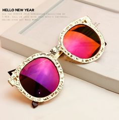 d0aa2d660a 2014 new SUper Luxury Vintage Hollow Out Metal Brand Designer Big Round  Fashion sun glasses sunglasses