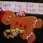 Felt gingerbread ornament teacher gift - Cute idea to let Taylor make ornaments for her teachers. Gingerbread Man Story, Gingerbread Ornaments, Christmas Holidays, Christmas Decorations, Christmas Ornaments, Christmas Ideas, Ornament Tutorial, Handmade Ornaments, Crafty Craft