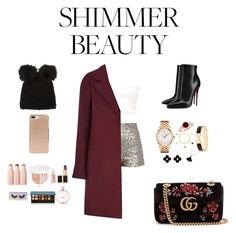 """""""Shimmer"""" by falhaj ❤ liked on Polyvore featuring Christian Louboutin, Barneys New York, Kate Spade, Tissot, Bulgari, Hermès, Van Cleef & Arpels, Gucci, Puma and Anastasia Beverly Hills"""