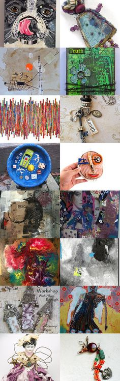 Marvelous Mixed Media Finds by Carla on Etsy--Pinned with TreasuryPin.com