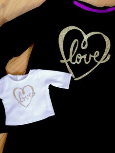 Make matching glitter love shirts this Valentine's Day!