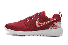 Nike Roshe Run 2015 Womens Shoes Red Flower Hot Special 01 1