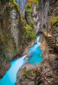 Leutasch Gorge in Bavaria, Germany via Walter Swistelnicki