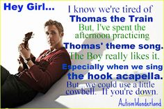 #SNRyanGosling talks Thomas the Train...I still dont think my boy is COMPLETELY done with Thomas. :)