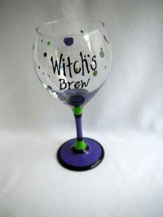 Witch's Brew glass