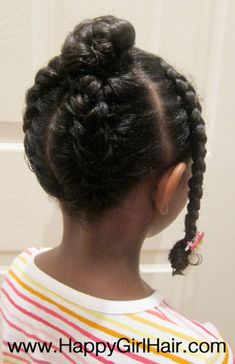 Protective style for daughters going natural! Then again, this would be cute on an adult, too (minus the barrette). What do you think?