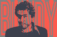Ted Bundy (Média mixtes),  90x60x2 cm par John Von Brown