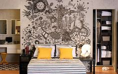 Quem disse que grafite só está presente em locais públicos? Traga o grafite na decoração de sua casa e deixe o ambiente mais criativo e artístico. Confira!