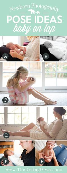 Precious Newborn Photography Pose Ideas Baby on Lap