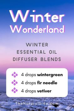 Winter Essential Oil Diffuser Blends To Get in the Holiday Spirit Winter Wonderland - Winter Essential Oil Diffuser Blends Essential Oil For Men, Oils For Men, Essential Oil Blends, Essential Oil Diffuser Benefits, Essential Oils For Migraines, Wintergreen Oil, Pomegranate Seed Oil, Diffuser Recipes, Winter Essentials