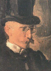 Frans Erens (23 juli 1857– 5 december 1936) Portret door Isaac Israels, rond 1900