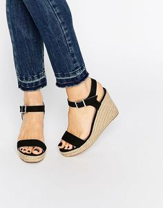 38d236031a3c Pieces+Halloumi+Black+Espadrille+Wedge+Sandals Halloumi