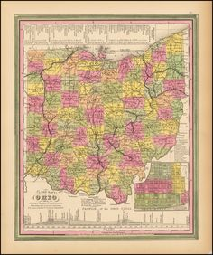 A New Map of Ohio (1847)