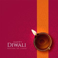 Happy diwali diya background with diya decoration Free Vector